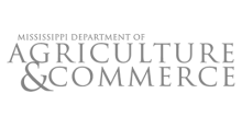 Mississippi Department pf Agriculture & Commerce Logo Gray